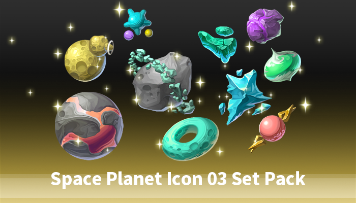 Space Planet Icon 03 Set Pack