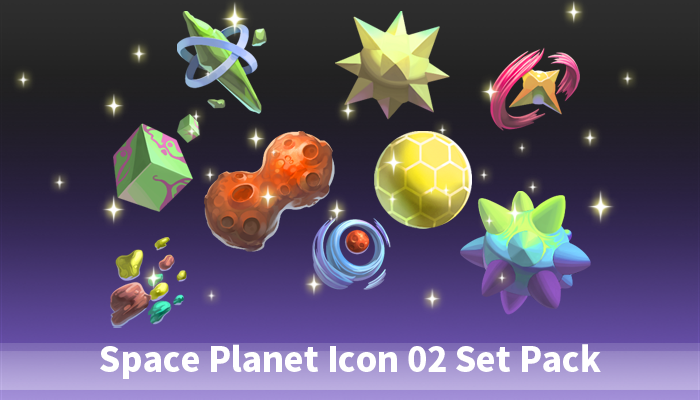 Space Planet Icon 02 Set Pac