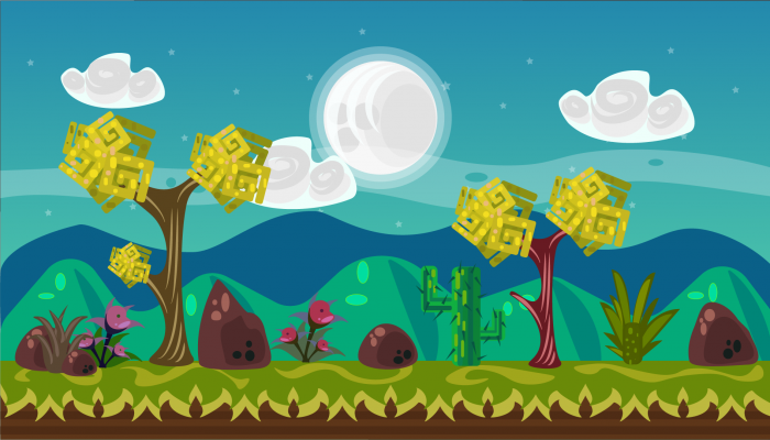2D Vector Game Background 4