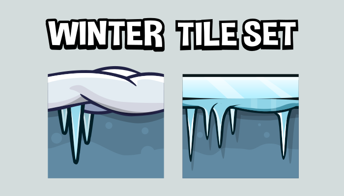 Winter 2d game tile set