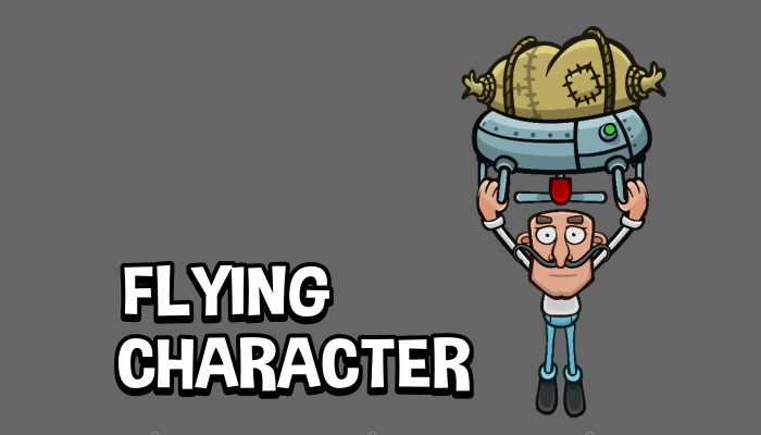 Flying character game asset