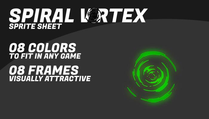 Spiral vortex I in 08 colors