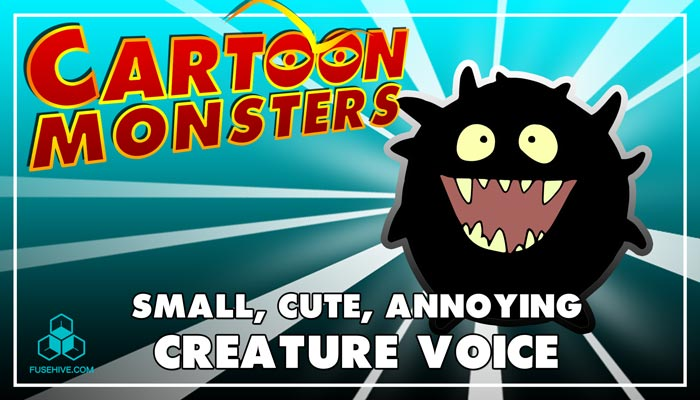 Small, Cute, Annoying, Modern Cartoon Creature – Royalty Free Voice Samples Library [Animation SFX]