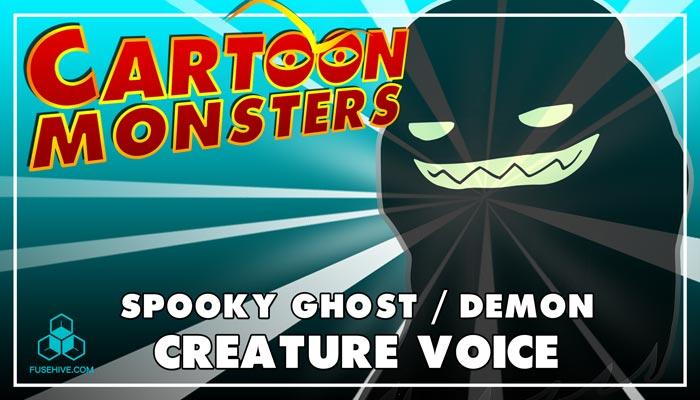 Spooky Ghost / Demon – Modern Cartoon Creature – Royalty Free Voice Samples Library [Animation SFX]