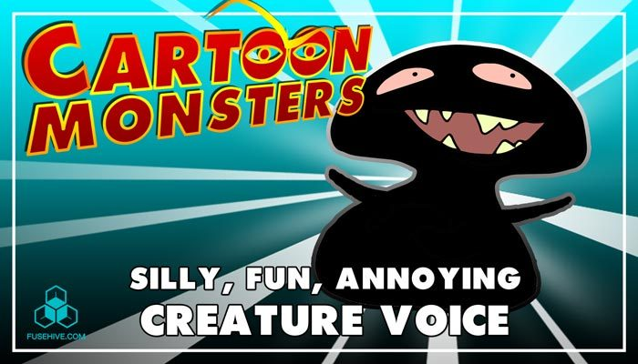 Silly, Fun & Annoying Modern Cartoon Creature – Royalty Free Voice Samples Library [Animation SFX]