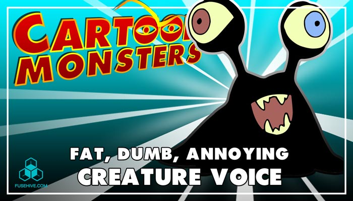 Fat, Dumb, Annoying Modern Cartoon Creature – Royalty Free Voice Samples Library [Animation Sounds]