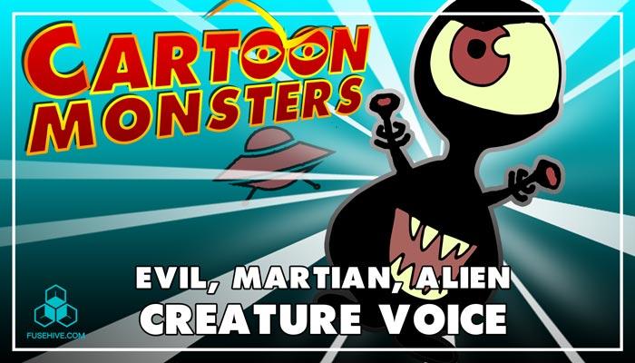 Evil Martian / Alien, Modern Cartoon Creature – Royalty Free Voice Samples Library [Animation SFX]