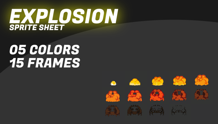Explosion FX II with 5 different colors