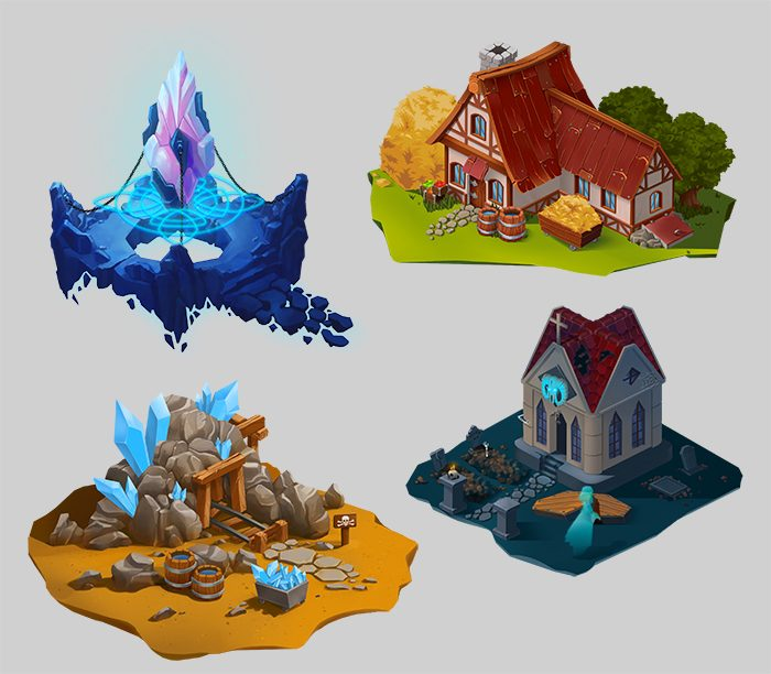 ISOMETRIC FANTASY LOCATIONS
