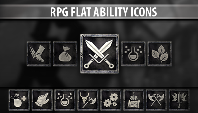 RPG Flat Ability Icons