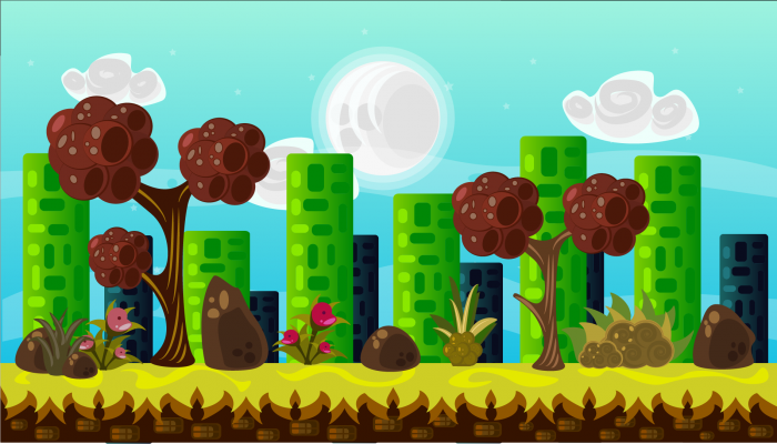 2D VECTOR GAME BACKGROUND 3
