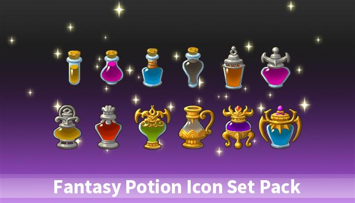 Fantasy Potion Icon Set Pack