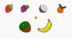 Pixel fruits