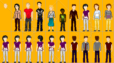 Pixel characters 1