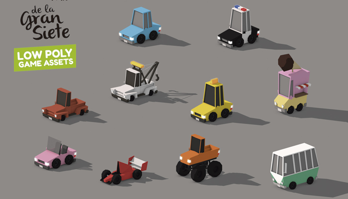 Low Poly 3d Cars Collection Assets