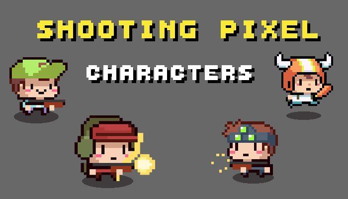 SHOOTING PIXEL CHARACTERS