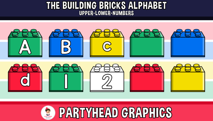 The Building Bricks Alphabet ENG.-SPAN. (Upper-Lower-Numb.)