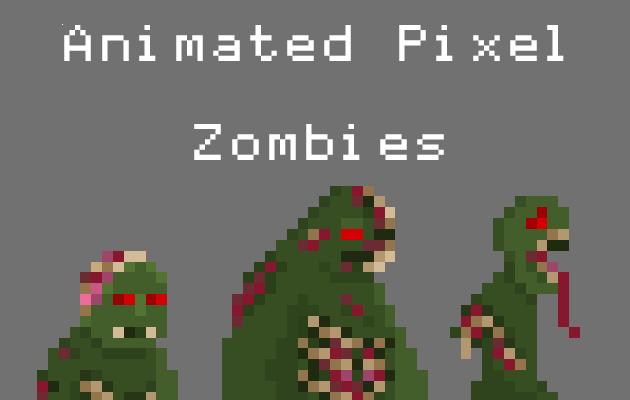 Animated Pixel Zombies