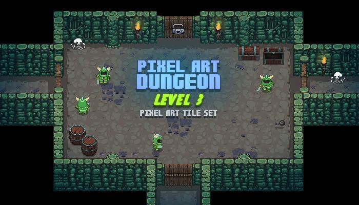 Pixel Art Dungeon Level 3