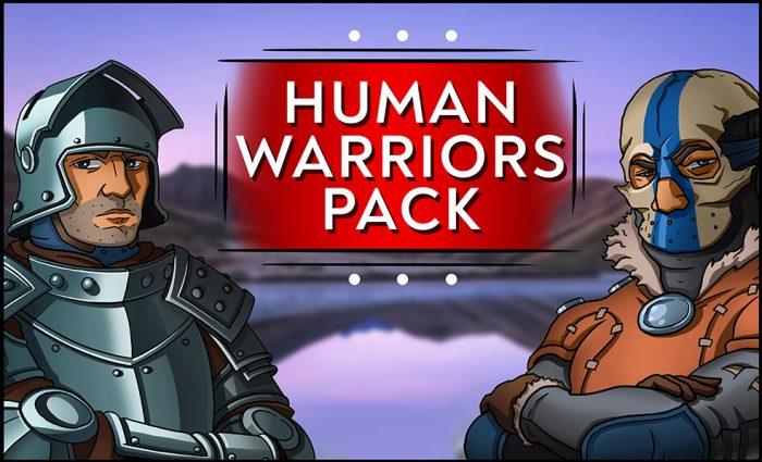 2D Fantasy Human Warriors Pack