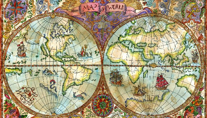Ancient atlas world map