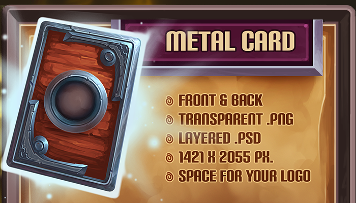 Metal Card Template