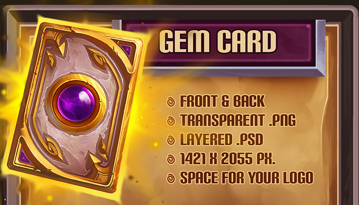 Gem Card Template