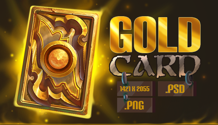Gold Card Template
