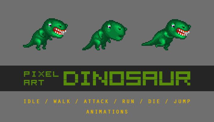 Pixel art Dinosaur Character