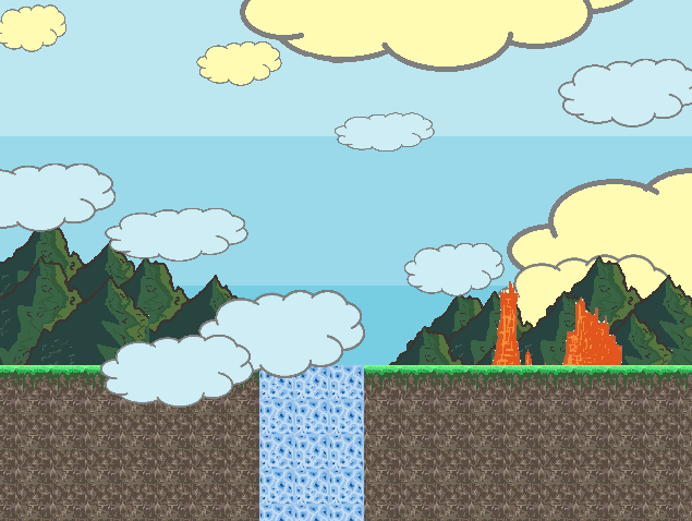 tiles, backgrounds and montains
