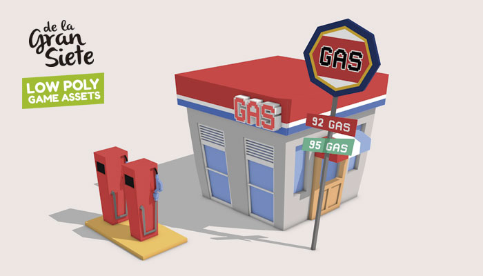 3D Gas Station Asset