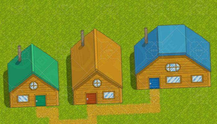 2D Pixel Art Houses