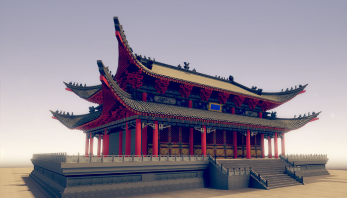 The ancient Chinese palace