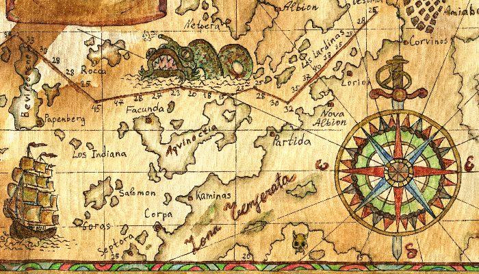 Pirate Treasures Map