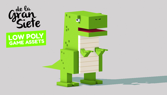 Low Poly Dinosaur Asset