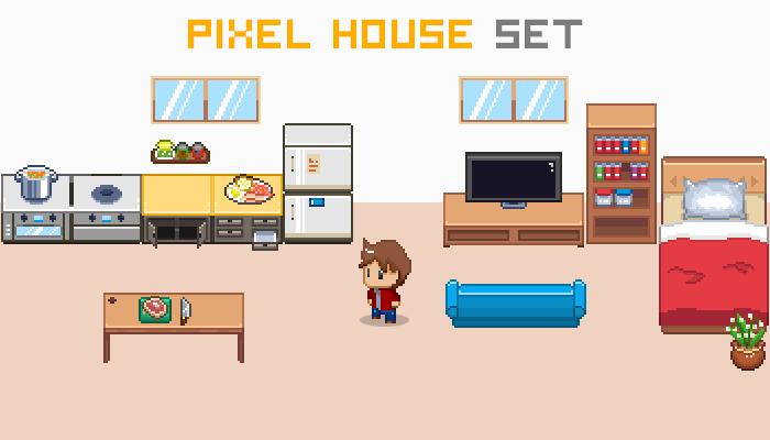 Pixel House Set