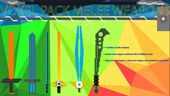 Voxel Pack Melee Weapons