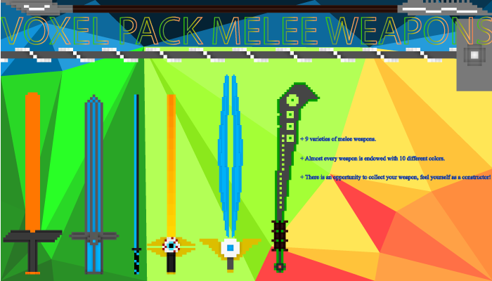 Voxel Pack Melee Weapons