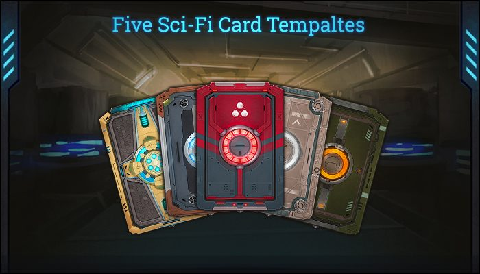 Five Sci-Fi Card Templates