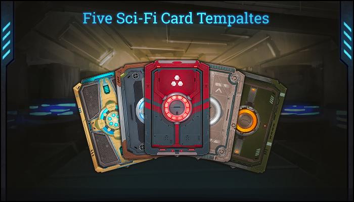 Five Sci-Fi Card Templates