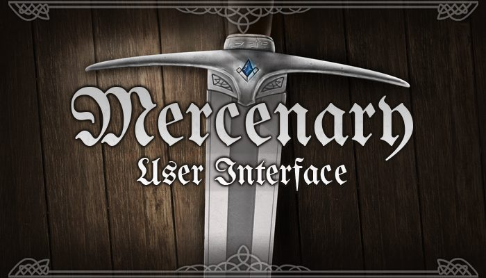 Mercenary – RPG User Interface