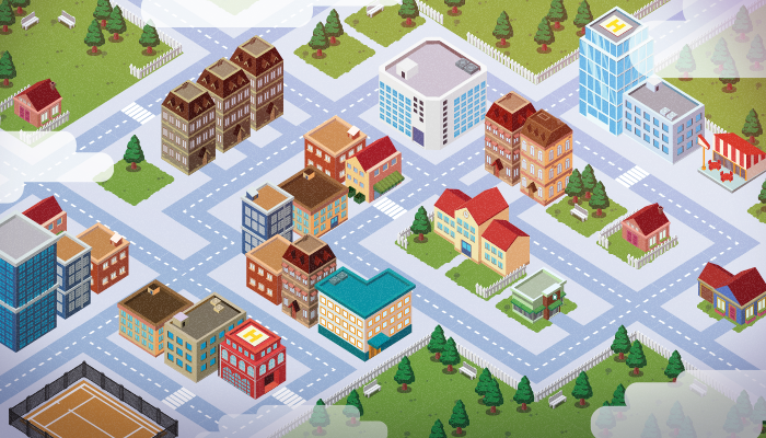Vector Art Isometric City