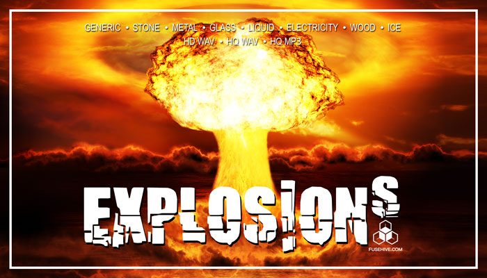 AAA CINEMATIC EXPLOSIONS SOUND EFFECTS LIBRARY – Various Materials Bursts, Shattering and Impact Sounds