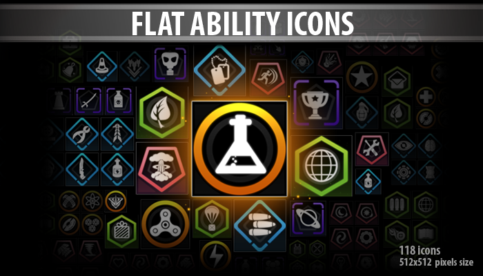 Flat Ability Icons