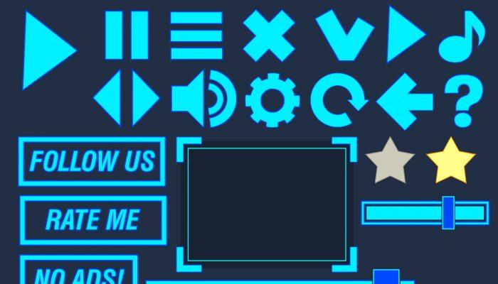 simple blue flat GUI pack