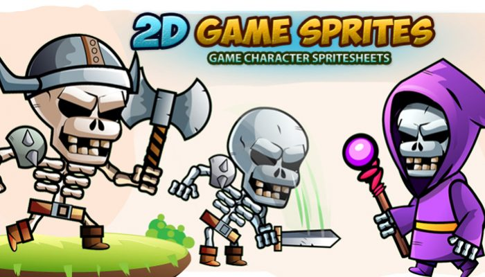 Skull warriors 2D Game Sprites Set