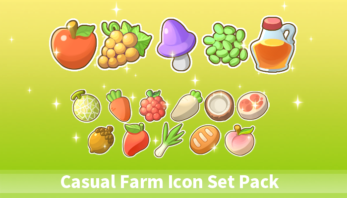 Casual Farm Icon Set Pack