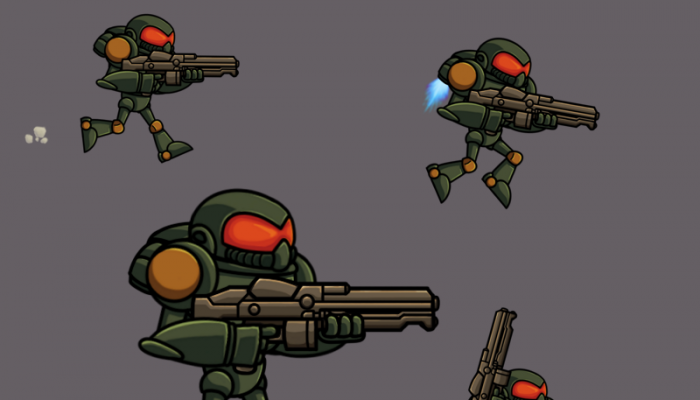 2D animated sci fi character