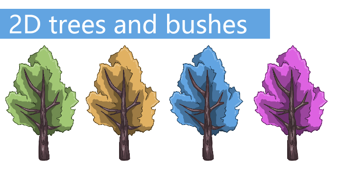 2D Trees and Bushes