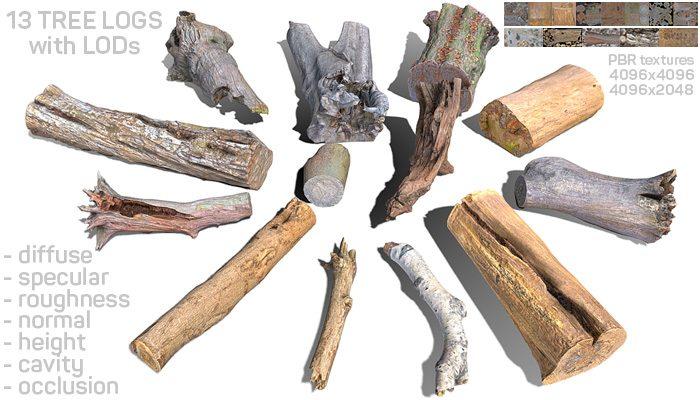 13 Tree Logs